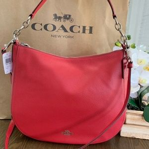 Coach Elle Hobo Leather F31399